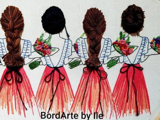 Proyecto #9 Como bordar cabello. Embroidery Hair