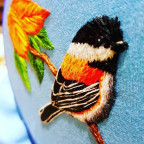 Como bordar un pájaro. How to embroidery a bird