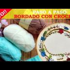 BORDADO FÁCIL: Como combinar el Crochet con el Bordado y aprender a leer patrones.